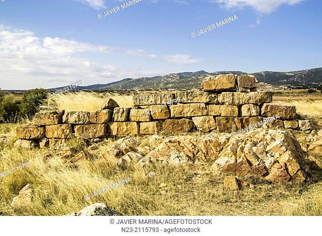 Populated celtibérico Berrueco; Berrueco, Teruel, Spain