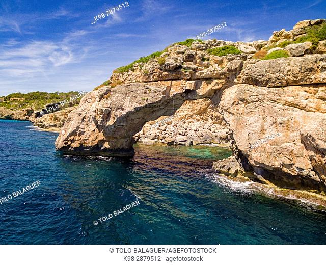 Es Pontas, arco natural de roca, Santanyí, Mallorca, balearic islands, spain, europe
