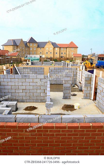 New housing development under construction, England, UK
