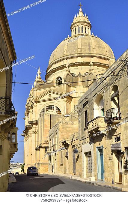 Malta, Gozo island, Xewkija, The Rotunda