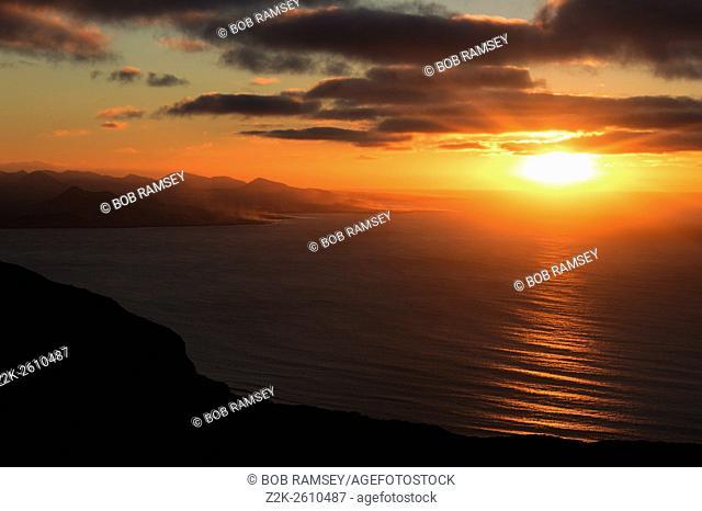 Sunset at Mirador del Rio. Lanzarote, Canary Islands, Spain