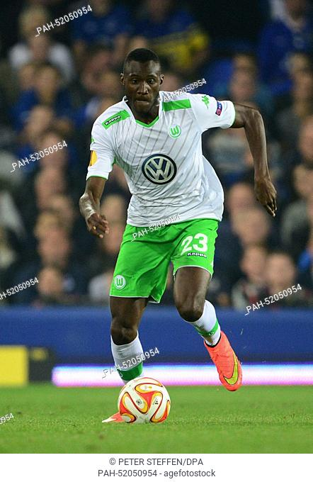 Wolfsburg's Josuha Guilavogui in action during the UEFA Europa League group H soccer match between Everton FC and VfL Wolfsburg at the Goodison Park, Liverpool