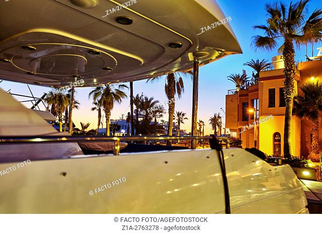 Yachting port. Denia. Alicante. Valencia community. Spain