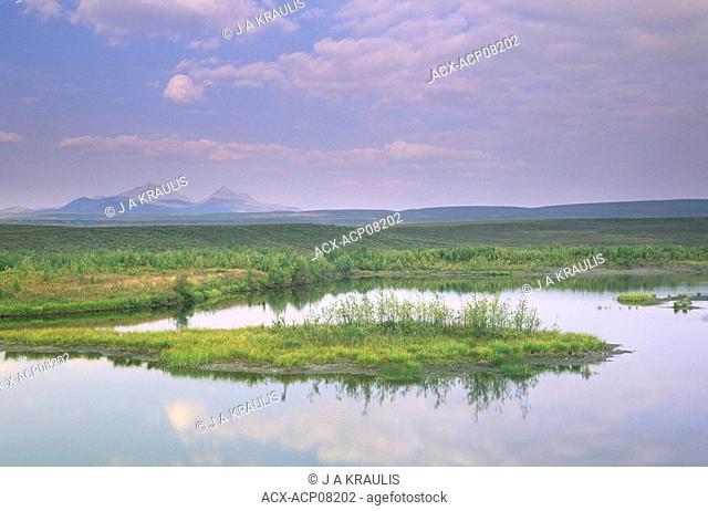 Lake along Dempster Highway,Ogilvie Mountains, Yukon Territory, Canada
