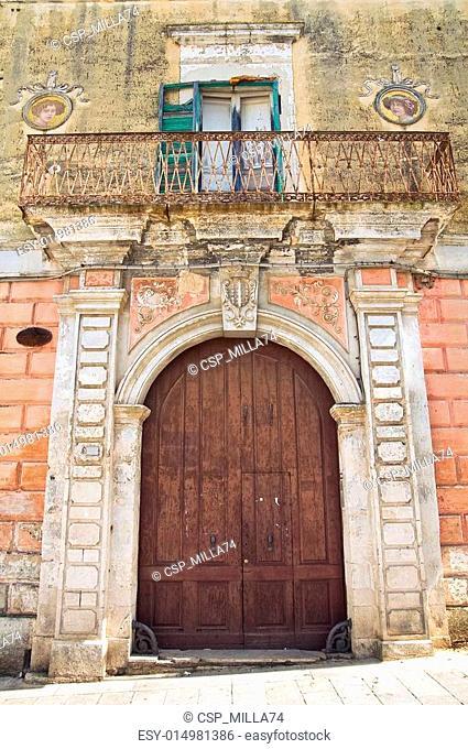 Historical palace. Ginosa. Puglia. Italy