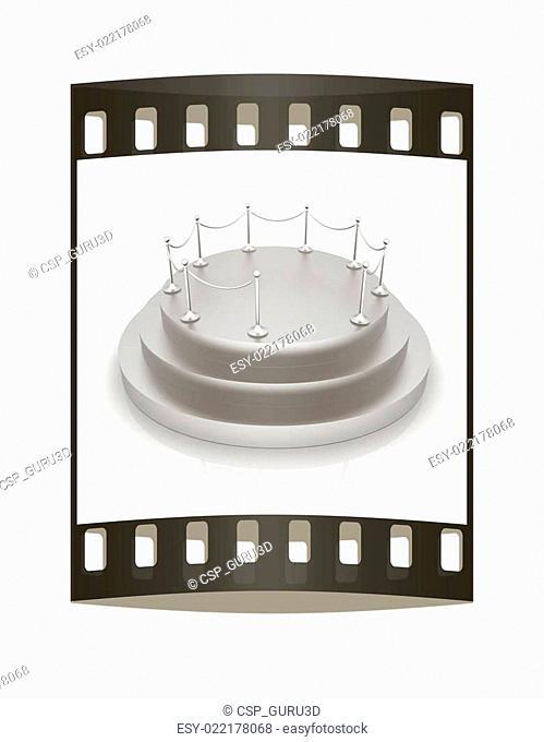 3D podium. The film strip