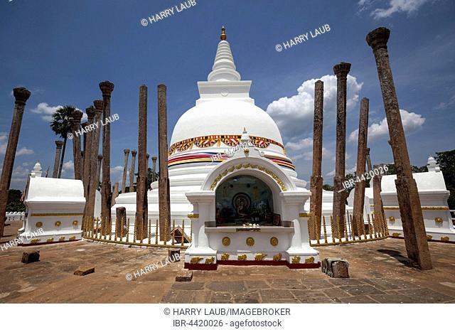 Thuparama Dagoba Temple, Anuradhapura, North Central Province, Sri Lanka