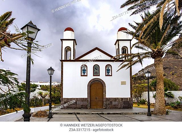 Parish church was builit in 1874, Agaete, Gran Canaria, Spain