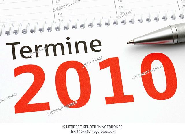 Appointment calendar 2010