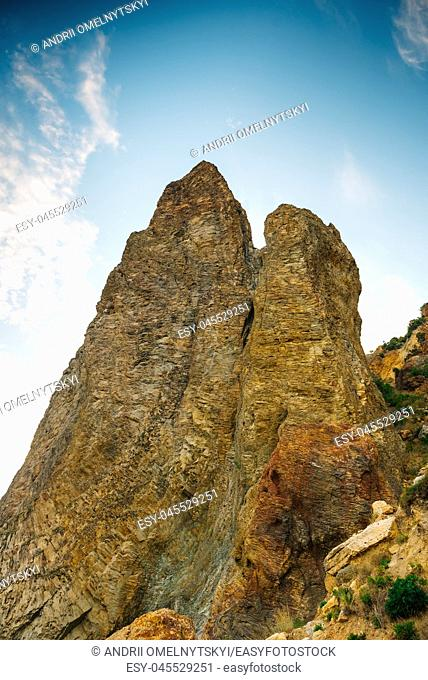 The cliffs and mountains of Cape Fiolent in Crimea