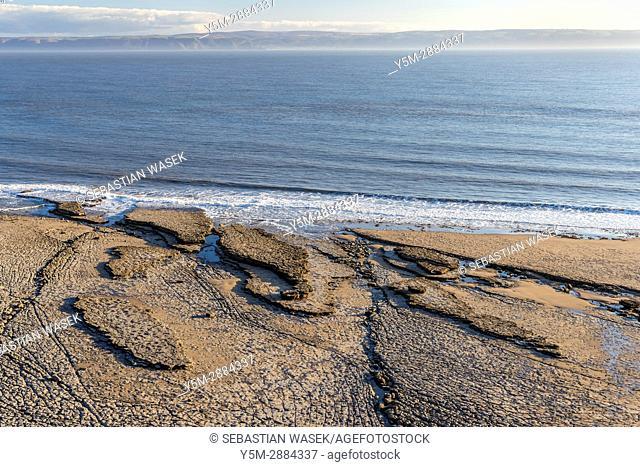 Nash Point, Monknash Coast of the Vale of Glamorgan, Wales, United Kingdom, Europe