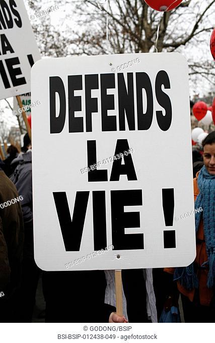 Pro-Life anti-abortion demonstration in Paris