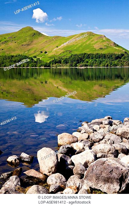 Derwent Water and Cat Bells in the Lake District National Park