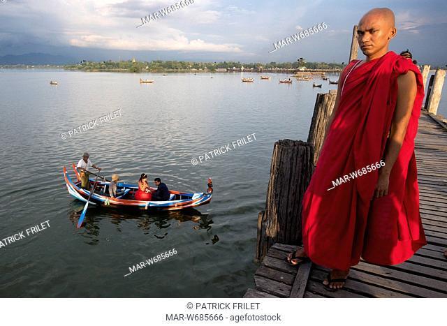 ponte u bein, amarapura, mandalay, birmania