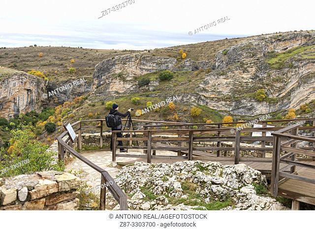 Mirador Félix Rodríguez de la Fuente. Parque Natural Barranco del Río Dulce. Pelegrina. Guadalajara Province, Castile-La Mancha, Spain