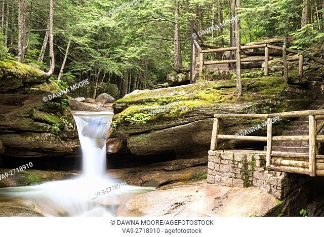 Sabbaday Falls Off the Kancamagus Highway, Albany, New Hampshire