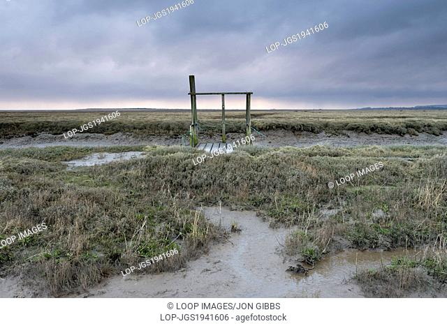 A jetty beside the creek at Thornham