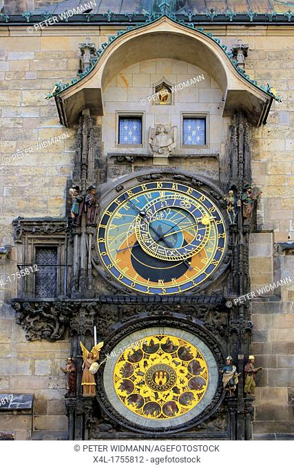 Czech Republic, Prague, Astronomical Clock on Old Town Hall