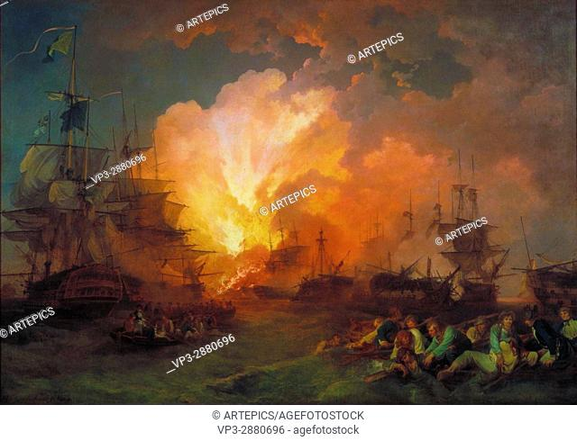 Phillip James De Loutherbourg - The Battle of the Nile