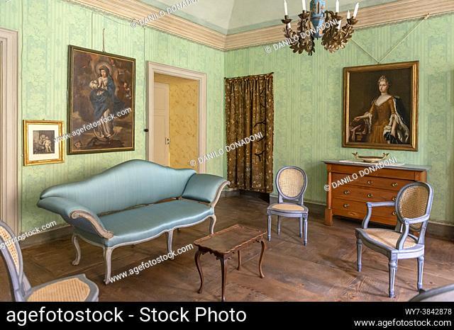 inside casotto castle, garessio, italy
