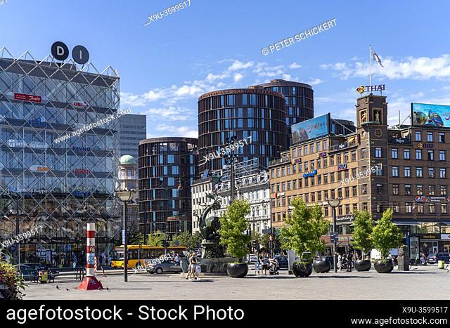 Das Haus der Industrie Industriens Hus, H. C. Andersens Boulevard und Rathausplatz Rådhuspladsen in der dänischen Hauptstadt Kopenhagen, Dänemark