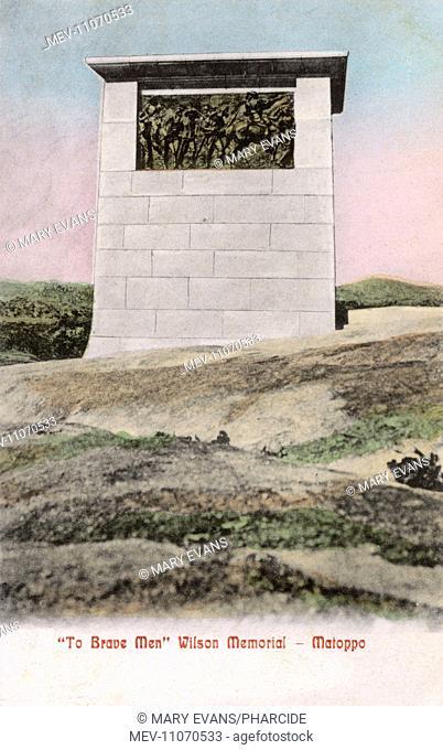 Wilson Memorial, Matoppo (Matopo, Matobo, Matopos Hills), Rhodesia (now Zimbabwe), commemorating the loss of Major Allan Wilson and his Shangani Patrol in the...