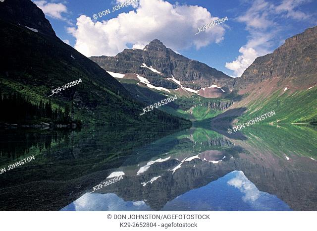 Reflections in Two Medicine Lake , Glacier National Park, Montana, USA