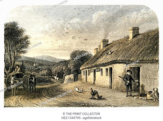 The birthplace of Robert Burns, Alloway, South Ayrshire, Scotland. Robert Burns (1759-1796) is generally regarded as Scotland's national poet