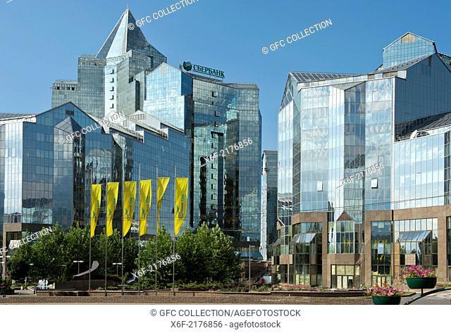 Nurly Tau Business Center at the Al-Farabi Avenue, Bostandyksky District, Almaty, Kazakhstan