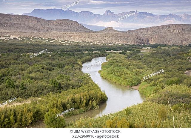 Big Bend National Park, Texas - The Rio Grande (Rio Bravo del Norte), the international border between the United States and Mexico