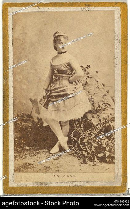 M'lle Zullio, from the Actresses and Celebrities series (N60, Type 2) promoting Little Beauties Cigarettes for Allen & Ginter brand tobacco products