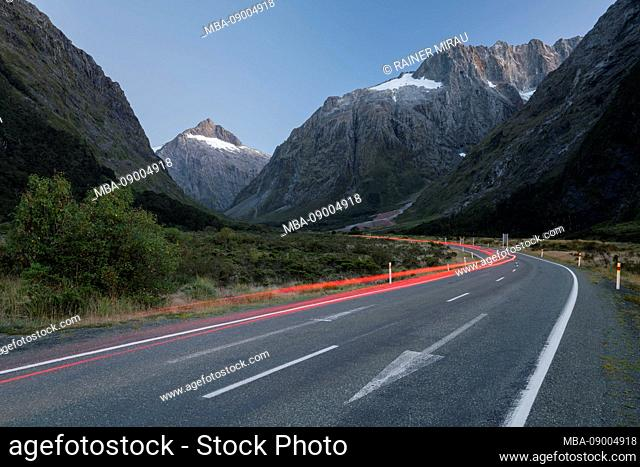 Road to Milford Sound Highway, Fiordland National Park, Southland, South Island, New Zealand, Oceania