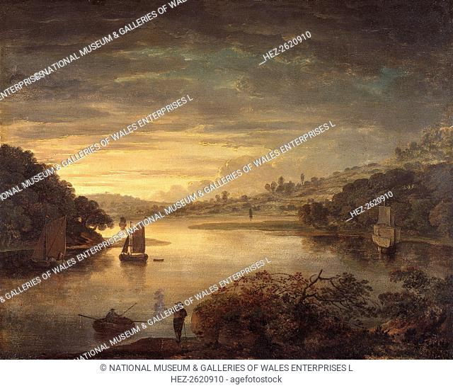'A view on the river Neath in Glamorganshire', 1740-1760. Artist: Anthony Devis