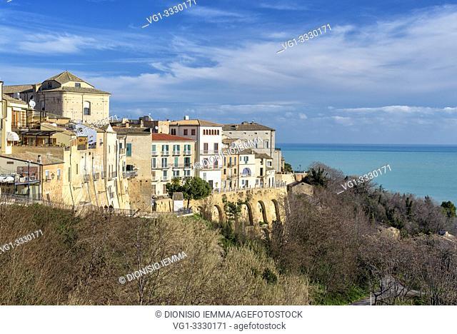 Vasto, district of Chieti, Abruzzo, Italy, view of the village