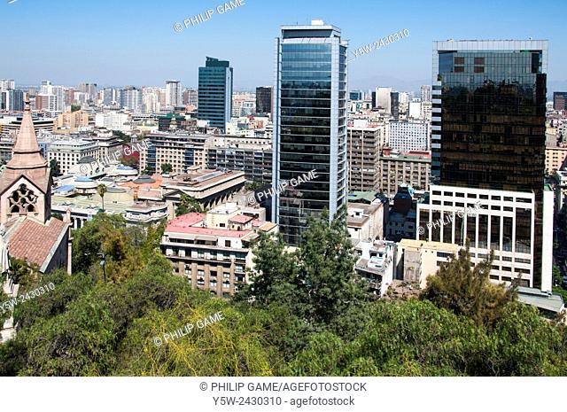 Views from Cerro Santa Lucia, Santiago
