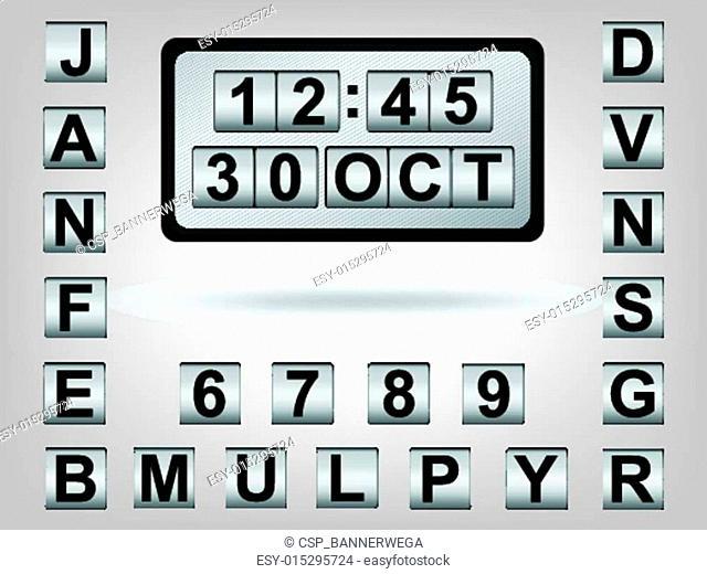 clock & calendar