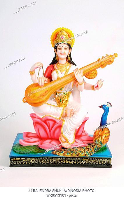 Statue of goddess saraswati , India