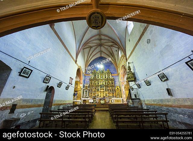 parroquia de nuestra señora de la asuncion, Kontrasta, Alava, valle de Arana, Euzkadi, Spain