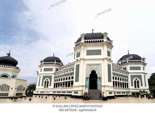 The Grand Mosque in Medan, Sumatra, Indonesia