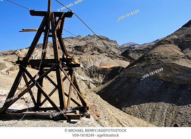 Tramway, Keane Wonder Mine, Death Valley NP, California, USA