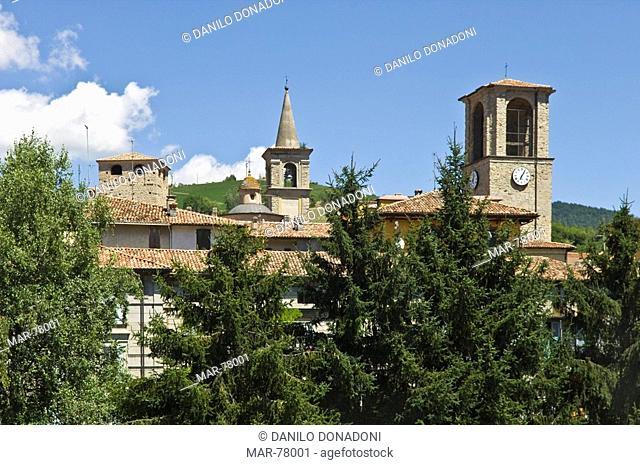 village partial view, varzi, italy