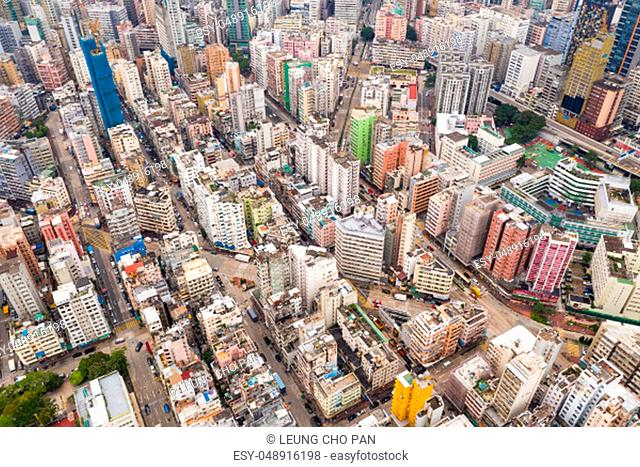 Top view of Hong Kong residential