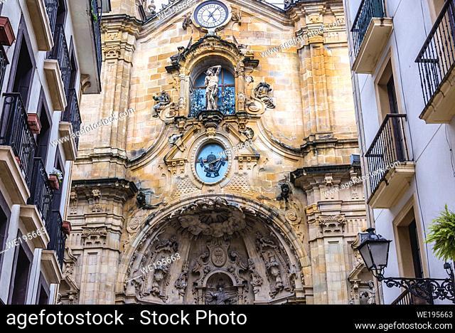 Basilica of Saint Mary of the Chorus in San Sebastian coastal city located in the Basque Autonomous Community, Spain