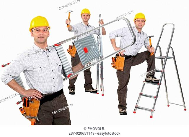 Handyman with a ladder