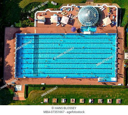 Outdoor pool Hestert, outdoor pool Hagen-Haspe, outdoor pool, Hagen, Sauerland, North Rhine-Westphalia, Germany