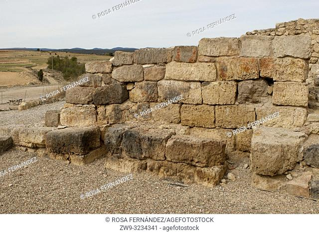Castro Alto Chacon, III century BC, Celtiberian Village located at the Muela de San Juan, near Teruel city, Aragon, Spain, Europe