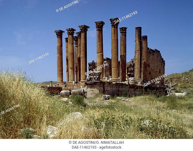 Temple of Artemis, Roman city of Gerasa (Jerash), Jordan. Roman civilisation, 150-170