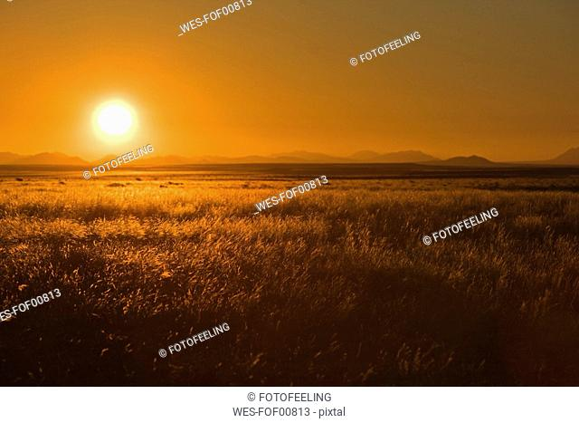 Africa, Namibia, Aus, Sunset