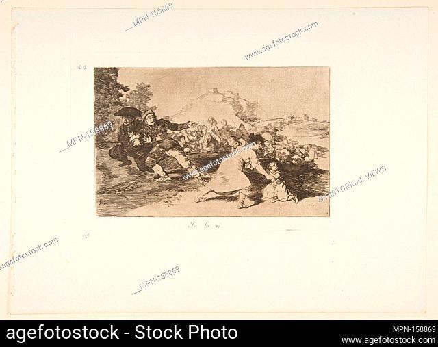 Plate 44 from 'The Disasters of War' (Los Desastres de la Guerra): 'I saw it' (Yo lo vi.). Series/Portfolio: The Disasters of War; Artist: Goya (Francisco de...