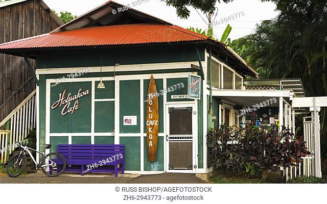 The Holuakoa Cafe, Holualoa, Kona District, The Big Island, Hawaii USA